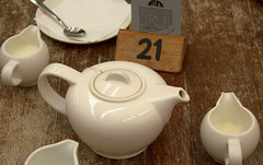 Tea Time (Tony Worrall Foto) Tags: england white color english ceramic table nice colours place tea drink 21 space drinking shades pot pots cups hues colourful spout pour teatime brew timeforteabrewwhitecupsnumber