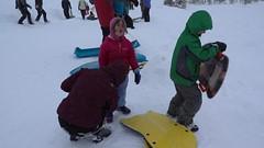 short and sweet (dolanh) Tags: winter snow lucas renee whiteriver sledding zooey snopark mthoodwilderness whiteriversnopark