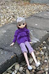 En la azotea (Ninotpetrificat) Tags: cute toys doll handmade hobby lila kawaii juguete mueca obitsu japantoy japandoll mamachapp