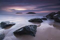 Sidmouth Beach (scott.hammond34) Tags: seascape colour beach water sunrise landscape coast sand rocks waves outdoor vivid devon bluehour sidmouth