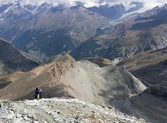 Looking back from Hornlihutte (lihue1946) Tags: trail gornergrat zermatt schwarzsee sunnegga rothorn fluhalp blauherd hornlihut hornlihutte