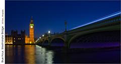 Blue Hour, Westminster Bridge (jwvraets) Tags: england london westminsterbridge elizabethtower bigben houseofparliament palaceofwestminster bluehour dusk longexposure wideangle opensource rawtherapee gimp nikon d7100 nikkor18105mmvr