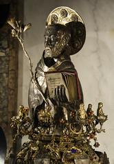 Silver Bust of Saint Dominic (Lawrence OP) Tags: saint shrine dominican tomb saints bologna dominic friar sandomenico arca founder reliquary