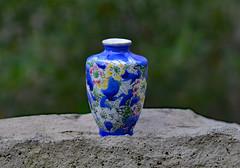 Tiny Elegance (BKHagar *Kim*) Tags: china blue vintage design miniature sale vase porcelain find glazed estatesale bkhagar