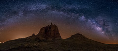 Shiprock Panorama (Eric Gail: AdventuresInFineArtPhotography) Tags: ericgail 21studios canon canon70d 70d explore interesting interestingness photoshop lightroom nik software landscape nature infocus adjust photo photographer ca cs6 topazlabs picture newmexico shiprock pano panorama milky way stars sky