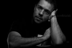 turn to black and white (erkua) Tags: auto portrait white black blanco home turn umbrella self canon studio 50mm golden y retrato flash negro el estudio paraguas hacia giro dorado casero speedlite strobist 60d yn460 yn560