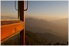 Happiness is...An open window,yonder hazy layers of Himalayan ranges and early morning noises everywhere..:) (~GlassLightHues~) Tags: travel blue windows woman india mountain sunshine canon photography dawn photographer open earlymorning happiness traveller ranges yonder layers hazy bliss himalayas himachalpradesh vantagepoint htdc fagu eos7d glasslighthues wakinguptosunrise vistasyousee gettyimagesindiaq4