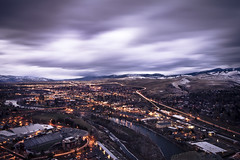 Missoula in November (Forrest.Rowell) Tags: city night clouds timelapse montana cityscape mt slow missoula shutter missoulaphotography forrestrowell