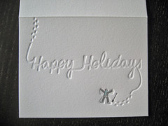 Snow Day Holiday Cards (dolcepress) Tags: blue newyork silver blind snowangel folded letterpress happyholidays greetingcard a2 snowday holidaycard creased vandercook dolcepress divisionof