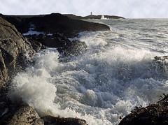 PULL THE PLUG (kenny barker) Tags: sea landscape lumix scotland waves fife elie coastuk panasonicgf1 kennybarker