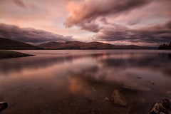 A fine evening (Jo_Krazy) Tags: longexposure sunset sky clouds canon river scotland rocks exposure lochlinnhe yabbadabbadoo 60d