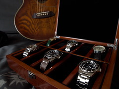 My collection (Plamen Velev) Tags: box watch collection wrist steinhart oceanone tissotprc200 seikoblackmonster plamenvelev orientmakoxl poljot2609