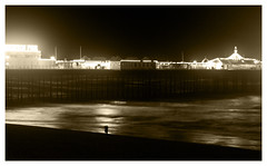 The Good Old Days - Get Pushed R14  EXPLORED!!! (Paul J Chapman Photography) Tags: sepia pier brighton getpushedr14