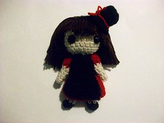 Custom doll (Mooy) Tags: red black handmade alice crochet evil custom mooeyandfriends