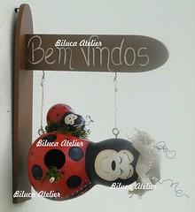 casinha joaninha com filhote (BILUCA ATELIER) Tags: gourds bees ladybugs cabaas pinturacountry porongos homebirds biluca casinhasdepassarinho