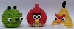 Lego Angry Birds - All 3 Models (ThatOllieGuy) Tags: red bird birds yellow pig lego models angry