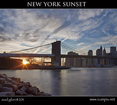 New York Sunset (iCamPix.Net) Tags: newyorkcity bridge usa newyork america niceshot unitedstates manhattan dumbo queens brooklynbridge eastriver empirestate engineer professionalphotographer civilengineering suspensionbridges nationalhistoriclandmark newyorkbridges stateofnewyork nationalhistoriccivilengineeringlandmark mywinners abigfave anawesomeshot colorphotoaward oldestbridge xmaxprocessing mostamazingphotoofnewyork xmax27851