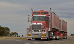 Armytage Road Train (quarterdeck888) Tags: highway flickr grain trucks trailers armitage roadtrain kenworth tippers quarterdeck newellhighway bdouble t609 armytage worldtruck