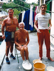 Ron having his feet cast. (Ronnie Biggs The Album) Tags: ronnie biggs greattrainrobbery oddmanout ronniebiggs ronaldbiggs