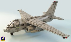 S-3B Viking of VS-24 Scouts (1) (Mad physicist) Tags: lego aircraft military viking usnavy s3b cvw8