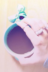 Untiteled !! [3] (SnAfeeR) Tags: morning girls light sun white cute love glass colors girl lady canon lens 50mm gold model hands colours peace hand picture pic calm mug lovely coffe advertizing accessorize  colooors samaher