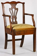 63. Chippendale Arm Chair, 19th century