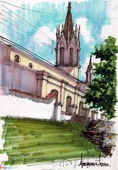 SketchPhoto So Luiz do Paraitinga (AdrianoMello) Tags: igreja markers casario gtica valedoparaiba soluizdoparaitinga hidrocor adrianomello