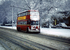 DB66  Edgware      3rd January, 1962 (Ron Fisher) Tags: trolleybus londontransport