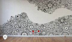 Wall (Lex Wilson) Tags: flowers floral wall illustration pen ink typography graffiti design graphic drawing lettering tangle zentangle lexwilson