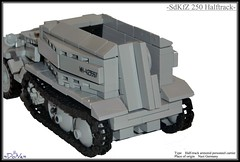 Lego ww2 -SdKfZ 250 German Halftrack- (=DoNe=) Tags: by viktor done legoww2 legohalftrack legoww2sdkfz250germanhalftrack