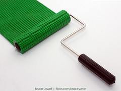 LEGO Paint Roller (bruceywan) Tags: life sculpture painting toy still paint lego sphere roller photostream lowell moc lowellsphere brucelowellcom lowellspherebl