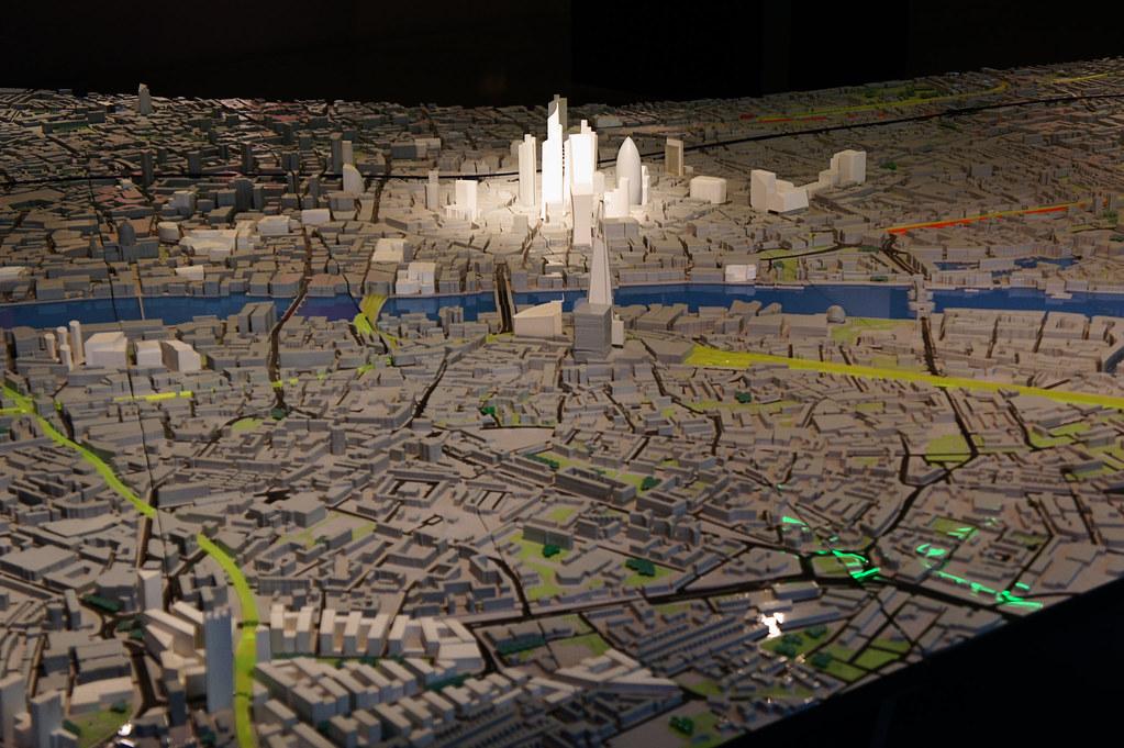 London model (closeup of City)
