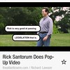 "This Rick Santorum ad-still seems right out of a DAN SAVAGE parody (""good at passing""), but its really supposed to show him normal, coaching little league."
