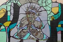 Pray (Mabry Campbell) Tags: usa art wall painting photography graffiti paint texas unitedstates unitedstatesofamerica pray praying houston wallart 2011 harriscounty mabrycampbell