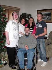 Merry Christmas, Uncle Guy! (Guy Fisher) Tags: christmas family autumn holiday guy wheelchair group stephen madison cody