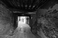Ghetto Passage (Ron Scubadiver's Wild Life) Tags: venice urban travel architecture nikon blackandwhite niceshot beams