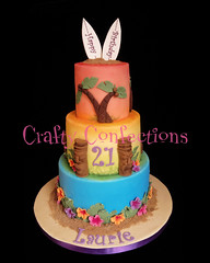 Luau-themed 21st birthday cake (Crafty Confections) Tags: birthday ireland wedding cake cork celebration novelty luau sculpted midleton craftyconfection
