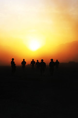 Sunset over Kandahar (The U.S. Army) Tags: christmas sunset afghanistan soldier 4id kandahar 2bct warhorse 4thinfantrydivision 2ndbrigadecombatteam fobpacemaker