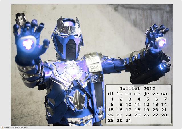 Calendrier Cosplay 2012 - 07 - juillet