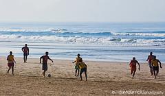 Sao Paulo - Beach Soccer (davidarnoldphoto) Tags: ocean travel brazil sky people men beach sports brasil ball team sand waves saopaulo soccer running leisure futebol sanpaulo