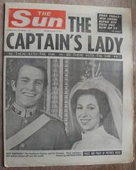 THE SUN (old school paul) Tags: vintage newspaper frontpage 1973 thesun royalwedding princessanne