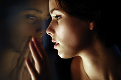 So close no matter how far (laura zalenga) Tags: light woman reflection girl face self death hand darkness breath goodbye 2012 soclosenomatterhowfar ©laurazalenga