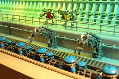 Turtle Factory - Sector 37 (Legoloverman) Tags: blue robot factory lego turtle tortuga hc productionline robotarm ironbuilder