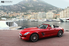Monaco Harbour (Raphal Belly) Tags: pictures red paris cars car private de french rouge photography eos mercedes hotel photo shoot riviera photographie photoshoot casino montecarlo monaco 63 mc belly exotic 7d hermitage raphael rosso fontvieille luxury rb rocher v8 fairmont spotting sls amg supercars roadster cabriolet raphal sance principality 2011 principaut worldcars egarage