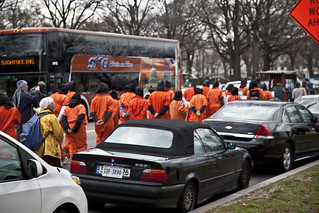 Witness Against Torture: Marching Past a Bus