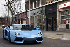 Baby Blue. (Alex Penfold) Tags: auto camera blue light baby london cars alex sports car sport mobile canon photography eos photo cool flickr driving image south awesome flash picture super spot pale exotic photograph spotted hyper kensington lamborghini supercar spotting exotica sportscar 2012 sportscars supercars avt v12 lambo penfold spotter hypercar 60d hypercars aventador lp700 alexpenfold v12avt