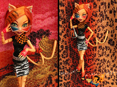Toralei's Fashion Pack (Mariko&Susie) Tags: fashion monster set cat canon eos for glasses 3d outfit high doll dolls dress stripe kitty pack 600 hm mattel versace sequin werecat marikosusie toralei