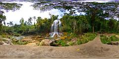 waterfall in Soroa (simon sherwin) Tags: panorama waterfall cuba handheld hdr soroa equirectangular 360x180 hapala