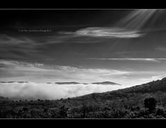 El muro (JavierLorca) Tags: luz sol monte niebla haz