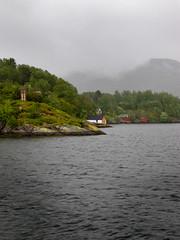 So Quiet ..... (Vergnaud Nicolas) Tags: trees sea sky mer house green norway clouds canon boat vert mai ciel arbres fjord bergen nuage bateau maison norvege 2011 s95
